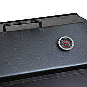 Набор ПикничОК Коптильня горячего копчения 2мм 490х270х260мм + Термометр + Щепа 2кг (hub_73em13), фото 3