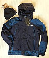 Куртка мужская, ветровка с капюшоном, весна-осень, демисезонная Размер М