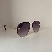 Солнцезащитные очки женские Guc 2 черный градиент
