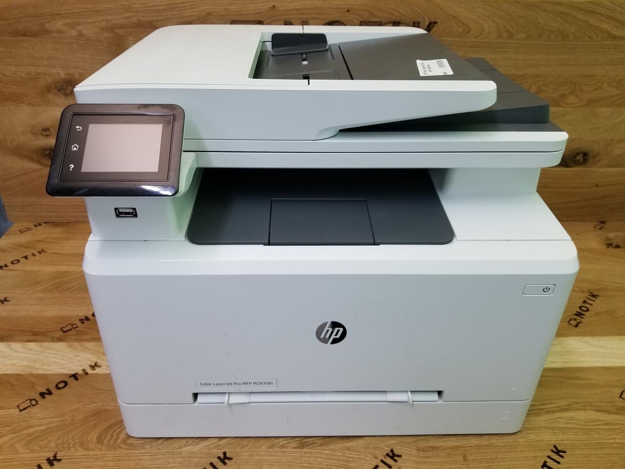 Принтер HP Color LaserJet Pro M281FDN Без картриджей