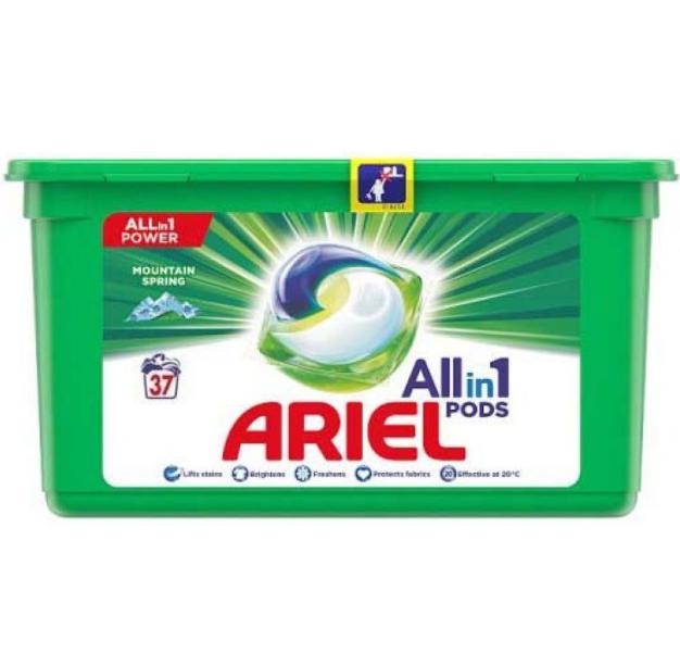 """Капсулы для стирки Ariel Pods 3 в 1 """"Mountain Spring"""" (37шт.)"""