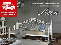 Кровать-диван 80*190 Леон (ножки-дерево)