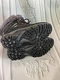 Кроссовки женские теплые зимние темно-серые, фото 7