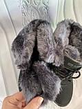 Кроссовки женские теплые зимние темно-серые, фото 5