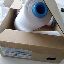 Текстурована нитка для оверлока Amann sabatex120 /10000m Німеччина колір білий