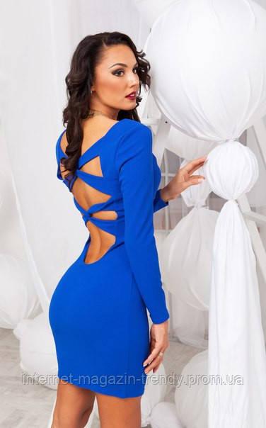 Платье мини облегающее с переплетами на спине (3 цвета) 08168