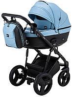 Дитяча коляска 2 в 1 Bair Play BP-7/69 блакитний-чорний