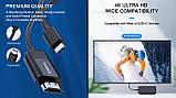 Кабель REAL-EL CHD-180 Type C - HDMI 4K 60Hz чорний, фото 9