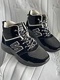 Кроссовки женские зимние черно- серого цвета в наличии, фото 2