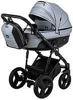 Дитяча коляска 2 в 1 Bair Play Plus BPL-110 сірий (перламутр) - чорний
