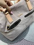 Сумочка комбінована нат.замша/кожзам якість люкс арт.0226-1, фото 3