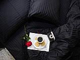 Двоспальний комплект постільної білизни зі страйп-сатину 100% бавовнв, фото 2