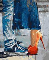 Картина по номерам Неожиданный поцелуй, размер 40*50 см, зарисовка полная, на подрамнике, фото 1