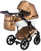 Дитяча коляска 2 в 1 Bair Star White (Cooper) еко-шкіра 100% 01C, фото 1