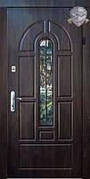 """Входные металлические двери """"ПРЕМИУМ"""" со стеклом и ковкой (улица)."""