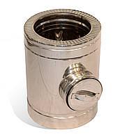 Ревізія із нержавіючої сталі Versia-Lux ф 220 280 мм 0,8 мм з термоізоляцією в оцинкованому кож, КОД:
