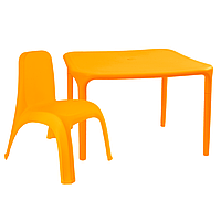 Детский стол для творчества + стул Оранжевый 18-100-02, КОД: 1130253