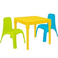 Детский стол для творчества + 2 стула Разноцветные 18-100-27, КОД: 1130289