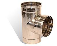 Трійник із нержавіючої сталі Versia-Lux ф 300 мм кут 90 гр 1 мм 11935, КОД: 1812366