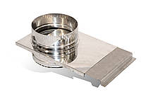 Шибер із нержавіючої сталі Versia-Lux ф 300 мм 0.6 мм 11999, КОД: 1812557
