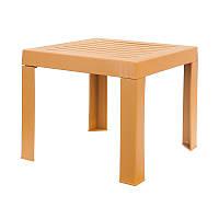 Столик для шезлонга Papatya 40x40x35 см Тик, КОД: 1898825