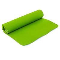 Коврик для йоги и фитнеса Yogamat TPE+TC 6мм SP-Planeta FI-4937, Зелёный