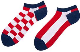 Женские носки короткие Sammy Icon Checker Short 36-40 Красно-белые 009546, КОД: 1214434