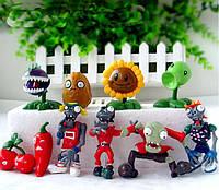 Набор 6 Растения против зомби PopCap Games Plants vs Zombies 10 фигурок 6nabor, КОД: 314819