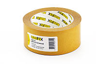 Скотч двухсторонний UNIFIX на полипропиленовой основе 50 мм х 25 м Желтый 052982, КОД: 1721528