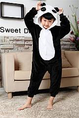 Пижама Кигуруми детская Kigurumba Панда Аниме S - рост 105 - 115 см Черный K0W1-0042-S, КОД: 1821242
