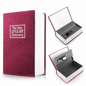 Книга сейф Mine Английский словарь 18 см Бордовый (hub_z6kef1)