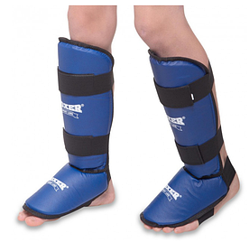 Защита голени и стопы кожвинил Boxer Sport Line L Синий (hub_g045zr)