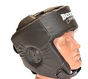 Шолом карате кожвініл Boxer Sport Line L Чорний (hub_576sl4)