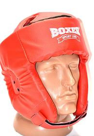 Шолом карате кожвініл Boxer Sport Line M Червоний (hub_kr0zzr)