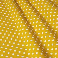Декоративная ткань горох на желтом фоне Турция 81481v5, фото 1
