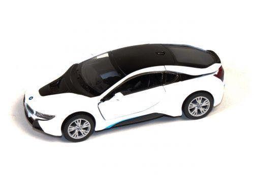 "Машинка KINSMART ""BMW i8"" (белая) KT5379W"