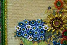 """Набор для вышивания бисером """"Натюрморт с подсолнухами"""", фото 3"""