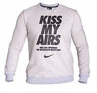 Толстовка с начесом серая Nike