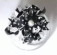 Ободок с многослойным бантом (черный)