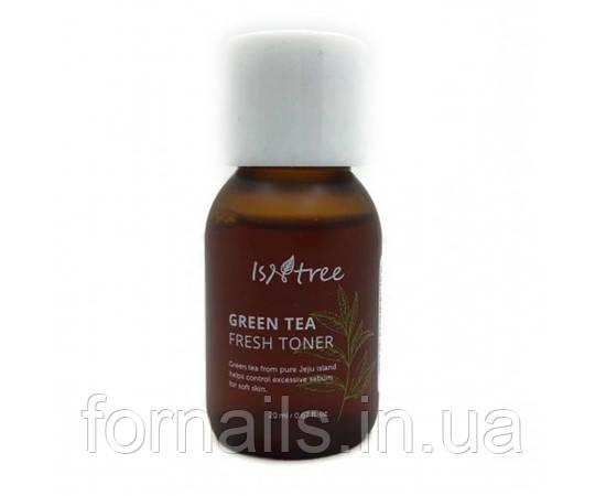 Миниатюра тонера на основе зеленого чая Isntree Green Tea Fresh Toner 20 мл
