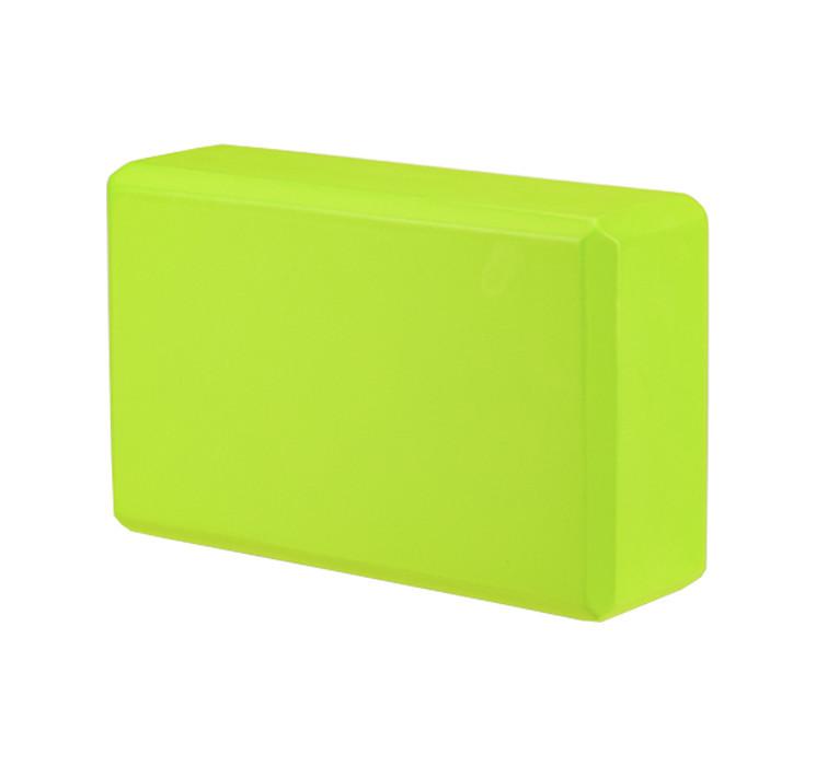 Блок для йоги зеленый