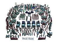 Военный набор солдатиков танков машин деревьев Besegad 307 шт