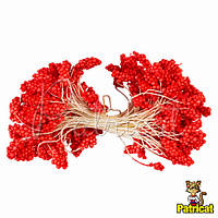 Тычинки пенопластовые Красные 5 мм на нитке 25 шт/ пучок