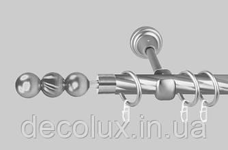 Карниз для штор однорядный металлический 16 мм (комплект) EМ 151 витые