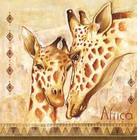 "Салфетки для декупажа ""Africa №1"" (Африка) 33*33 см №172"