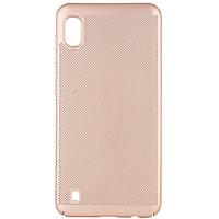 Ультратонкий дышащий чехол Grid case для Samsung Galaxy A10 (A105F) Золотой