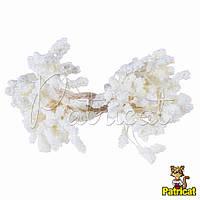 Тычинки пенопластовые Белые 5 мм на нитке 25 шт/ пучок