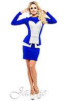 Женский костюм юбка и кофта Дана электрик ТМ Жадон 42-50 размеры Jadone