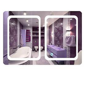 Зеркало прямоугольное с LED подсветкой SmartWorld Zlata_2 90x130x3 см (1031-d14-90x130x3)