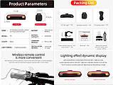 MEILAN X5 Умный Велосипедный Фонарь + USB пульт, Лазерная дорожка, Автостоп (85LM, 2200mAh, LED*29, USB, IPX4), фото 2